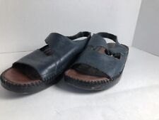 Dr Scholls Women  Blue Leather Shoes With Verve On The  Side No Buckle  Size 8