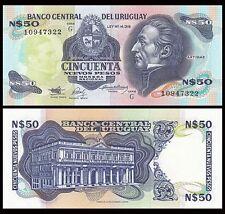 URUGUAY P61****50 NUEVOS PESOS***ND 1988***UNC GEM***LOOK SUPER SCAN