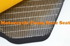Motorcycle Race Racing Foam Seat Pad Adhesive 1cm Thick Black Universal Fit