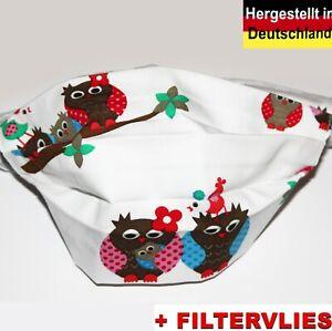 Mehrweg Behelfs Baumwolle + Filter Mund Nasen Maske bedeckung Waschbar PROFINAHT
