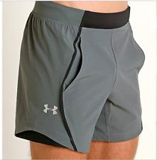"Under Armour Speedpocket Linerless 6"" Men's Sz L Gray Reflective Running Shorts"