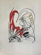 Raymond MORETTI 1931-2005.Composition abstraite.Lithographie.SBD.53/149.65x50.