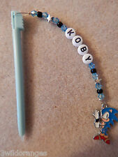 Personalised DS / DSi Stylus Pen with charm Sonic blue pen
