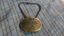 Vintage ASTORIA Vinitaly GRAN MEDAGLIA D'ORO Brass Bottle Tag Keychain VG !