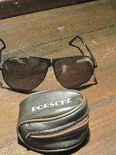 Porcshe sunglasses vintage aviators fold up with case