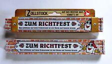 Zollstock mit Spruch Zum Richtfest messen bauen Häuslebauer Geschenk Meterstab