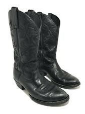 Ariat Mens Heritage Round Toe Western Cowboy Boots Black Leather Size 9.5 D