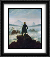 Wanderer above the Sea of Fog 2x Matted 28x32 Framed Art by Friedrich