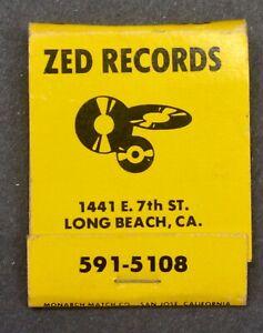 RARE 1970s' ZED RECORDS  Long Beach  Matchbook