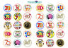30 x 70th Birthday Design Edible Cupcake Topper rice paper,Icing or precut wafer