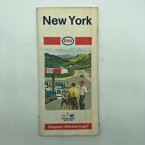New York NY - Esso Road Map - 1969-70