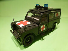 POLISTIL S49 LAND ROVER - MILITARY AMBULANCE  - ARMY GREEN 1:25? - GOOD