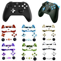 Chrome Xbox One S Controller Full Buttons Mod Kit ABXY Trigger D-Pad LB RB ABXY