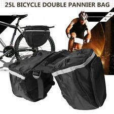 25L Bicycle Double Pannier Travel Bag Cycling Waterproof Bike Rear Rack Storage