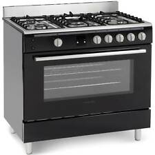 Montpellier MR90GOK Single Cavity Gas Range Cooker in Black 5 Hotplate Burners