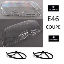 2 VITRE DE FEUX PHARE AVANT POUR BMW SERIE 3 E46 COUPE PHASE 1 DE 1999 A 04/2003
