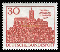 EBS Germany 1967 450th Anniversary Martin Luther Michel 544 MNH**