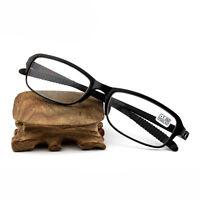 Flexible TR90 Reader Spectacles Reading Glasses +1.0 To +2.5 Black EyeGlasses