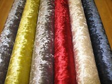 Essex Crushed Velvet Fabric - Upholstery Use - (6 Colours) - Benito Range