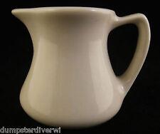 "small individual White handle surup Creamer 2.5"" Hall vintage restaurant ware"