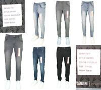 Mens Fashion Casual Super Stretch Super Skinny Denim Jeans SZ 30-44 Inseam 32 34