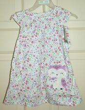 New Baby Girl size Newborn Owl Dress & Diaper Cover Child of Mine Floral