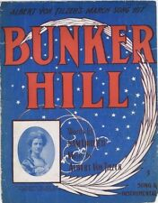Bunker Hill,  May Bell Mack photo, 1904, vintage sheet music