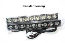 Daytime Running Lights Lamps 6000k FOR AUDI Style 2005+ A5 A6 Q7 White 2 x 9 LED