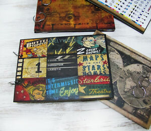 Vintage comics patches writing,drawing  journal-photo album/Sketchbook journal