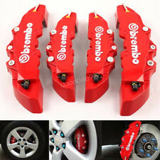 """4Pc 3D Brembo Style Disc Brake Caliper Covers 16-17"""" Front&18-22"""" Rear Universal"""