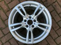 "BMW 3 SERIES F30 F31 18"" STYLE 400M M SPORT REAR ALLOY WHEEL 7845881 GENUINE OEM"