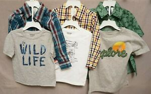 WONDER OR ROUTE 66 2 PIECE BOY'S SHIRTS ASSORTED SIZES & PATTERNS BNWT