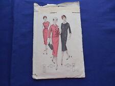 Vintage Butterick Dress & Jacket Pattern 1939 #8462 Size 14 Bust 34