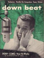 Down Beat May 16 1957 Nat Cole, Perry Como VG 081016DBE