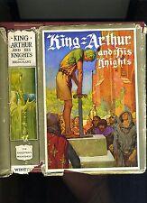 KING ARTHUR AND HIS KNIGHTS-MERCHANT-1ST 1927-ILLUS FRANK GODWIN-HB/RARE JACKET