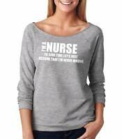 Gift For Nurse French Terry Woman Top Occupation Tee Shirt 3/4 Sleeve