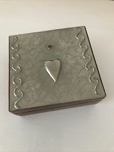 Pewter And Wood Trinket Jewellery Box . Made By Sasha Bowles For Libertys .