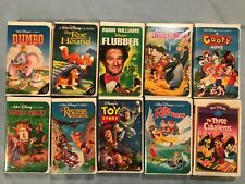 10 Walt Disney VHS Movies Toy Story Rescuers Dumbo Jungle Book Flubber Goofy +