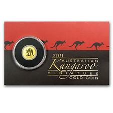 2011 Australia 2$ 1/2 Gram Gold Coin Kangaroo Mini Roo BU (Assay Card)