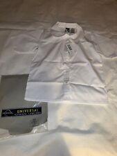 Size 10 Universal School Uniform S/S White Peter Pan Collar Button Top Shirt New