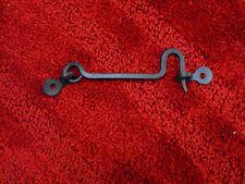 "Blacksmith Custom hand forged wrought iron 3"" hook and eye latch door window."