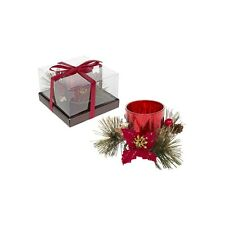 Sml Red Christmas Sparkle Tealight Decoration.Lovely Christmas Table Decoration.