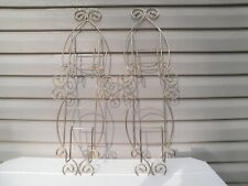 Vintage Pair Wall Style Plate Display Racks-- Brass Finish