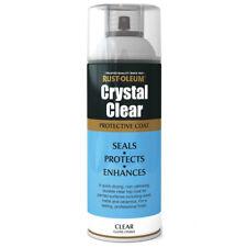 Rust-Oleum Crystal Clear Gloss Spray Paint Protective Top Coat - 400ml