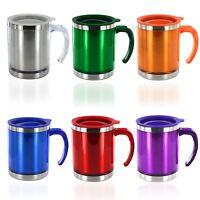 Thermal Travel Mug Insulated Coffee Tea Flask Cup Removable Lid 450ml 60oz
