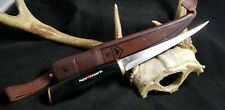 Vintage Fiskers 1967 Fish Filet Skinning Knife with Leather Sheath 22