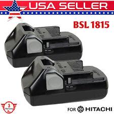 For HITACHI BSL1815S 18V BSL1815X BSL1825 BSL1830 330139 Slide Style Battery 2Ps