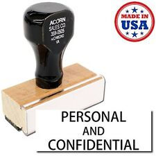 Acorn Sales - Large Personal Confidential Rubber Stamp