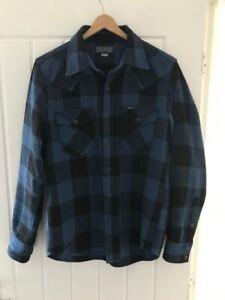 Iron Heart 9 oz Selvedge Flannel Check Western Shirt. Size medium