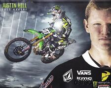 2013 Justin Hill Monster Kawasaki KX250F AMA Supercross SX Motocross MX postcard